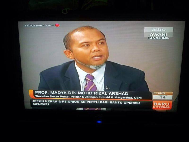 AP Dr Mohd Rizal Arshad talk about MH370